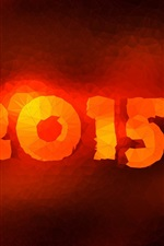 Preview iPhone wallpaper 2015 New Year, red fire