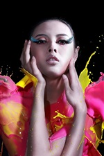 Preview iPhone wallpaper Art pictures, paint, girl, fashion