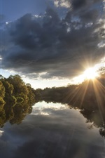 Preview iPhone wallpaper Australia, National Park, forest, trees, river, sunset
