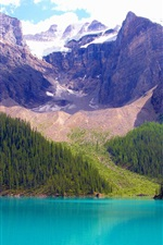 Preview iPhone wallpaper Banff National Park, Alberta, Canada, lake, mountains, trees