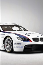 Preview iPhone wallpaper Beautiful BMW M3 GT2 supercar front view