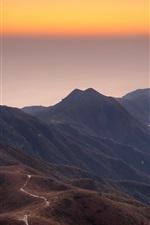 Preview iPhone wallpaper China, Hong Kong, Sharp Peak, coast, mountains, morning