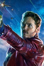 Preview iPhone wallpaper Chris Pratt, Guardians of the Galaxy