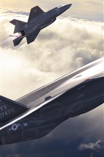 Preview iPhone wallpaper F-35 Lightning II, American, fighter