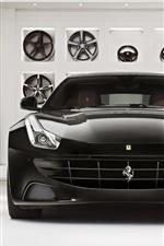 Preview iPhone wallpaper Ferrari FF black supercar front view