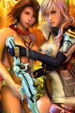 Preview iPhone wallpaper Final Fantasy XIII, beautiful girls