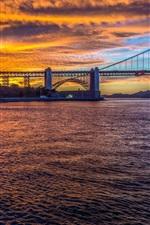 Preview iPhone wallpaper Golden Gate Bridge, San Francisco, California, USA, city, evening, strait