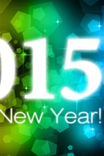 Preview iPhone wallpaper Happy New Year 2015, colorful background