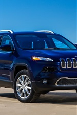 Jeep Cherokee Limited blue SUV car