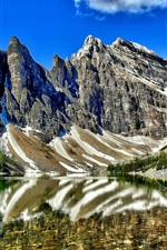 Preview iPhone wallpaper Lake Agnes, Banff National Park, Alberta, Canada, mountains, trees