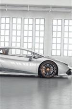 Preview iPhone wallpaper Lamborghini Huracan LP850-4 Lucifero supercar side view