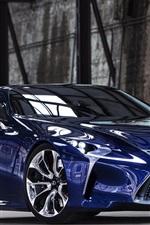 Preview iPhone wallpaper Lexus LF-LC blue concept car front view