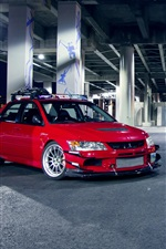 Preview iPhone wallpaper Mitsubishi Evo IX red blue cars