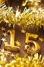 Preview iPhone wallpaper New Year 2015, golden, Christmas