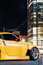미리보기 iPhone 배경 화면 닛산 Z34 370Z 노란색 차