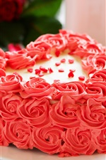 Preview iPhone wallpaper Pink flowers cake, rose, petals