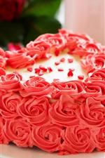 Preview iPhone wallpaper Pink flowers cake, rose, petals