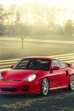 Vorschau des iPhone Hintergrundbilder Porsche 911 GT2 rotes Auto