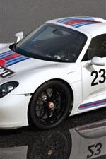 Preview iPhone wallpaper Porsche 918 Spyder Prototype white supercar