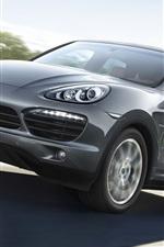 Porsche Cayenne S SUV car in speed