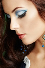 Portrait of beautiful, perfect makeup, fashion girl