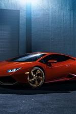 Red Lamborghini Huracan LP610-4 supercar
