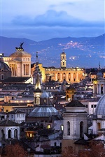 Preview iPhone wallpaper Rome, Italy, architecture, city, evening, house, lights
