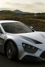 Preview iPhone wallpaper Silver Zenvo St1 supercar