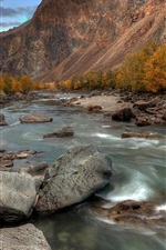 Preview iPhone wallpaper The Altai mountains, river, stones