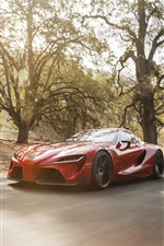 Preview iPhone wallpaper Toyota FT-1 concept supercar, speed, road