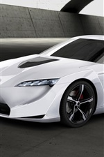 Toyota FT-HS concept white car