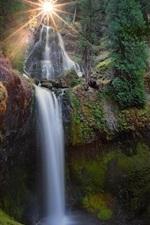 Preview iPhone wallpaper Waterfalls, Gifford Pinchot National Forest, Carson, Washington, USA