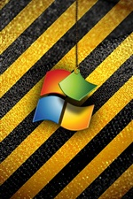 Preview iPhone wallpaper Windows operating system logo, stripes