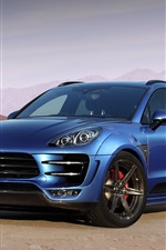 2014 Porsche Macan Ursa 95B blue car