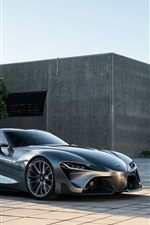 Preview iPhone wallpaper 2014 Toyota FT-1 concept supercar