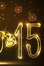 iPhone fondos de pantalla 2015 Feliz Año Nuevo, año ovejas, de oro