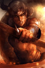 Preview iPhone wallpaper Art pictures, Lara Croft, Tomb Raider, arrow