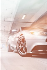 Preview iPhone wallpaper Aston Martin Vanquish silver car front view