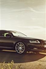 Audi A6 car, glare, road