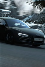 Preview iPhone wallpaper Audi black car speed