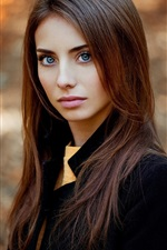Autumn, girl portrait, look, beautiful