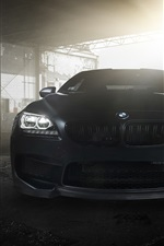 BMW M6 Coupe F13 black car front view