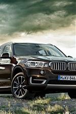 미리보기 iPhone 배경 화면 BMW X5 갈색 SUV 자동차