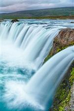 Preview iPhone wallpaper Beautiful waterfalls, river, clouds