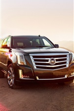 Preview iPhone wallpaper Cadillac Escalade Jeep, sunny day