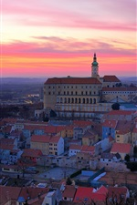 Czech Republic, city, evening, sunset, houses