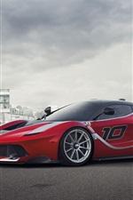 iPhone壁紙のプレビュー フェラーリFXX Kスーパーカーの側面図