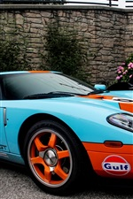 Preview iPhone wallpaper Ford GT40 blue orange supercar