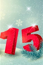 Preview iPhone wallpaper Happy New Year 2015, gift, snow, winter