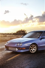 Preview iPhone wallpaper Honda Acura Sedan, blue car